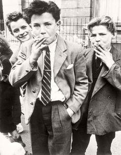Roger Mayne's Boys Smoking, London, 1956