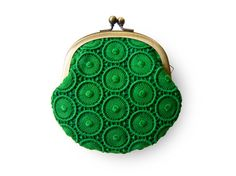 Forest Green Circle Lace Purse designed by humoresque on Etsy.