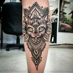 Image result for cat mandala tattoo