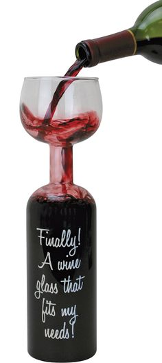 Wine Bottle Glass — A Real Solution