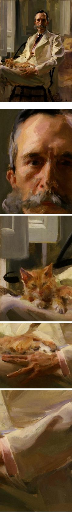 Man with the Cat (Henry Sturgis Drinker), by Cecilia Beaux. One of the great portraits.