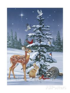 Charming woodland creatures come together for this Christmas Gathering framed wall art, making it a must-have piece to decor your home this holiday season. Christmas Wall Art, Christmas Animals, Christmas Images, Christmas Home, Christmas Scenes, Christmas Goodies, Christmas Greetings, Vintage Christmas, Xmas