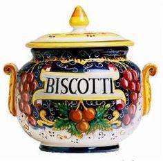 VINO VERITAS Classic Biscotti Jar Inches: 9 Diam x 9.5 Height
