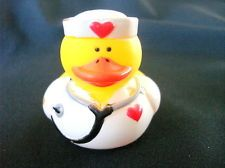 """Rubber Duck NURSE w/ Stethoscope Duckie NEW 2"""" Thank You Gift Station Topper"""