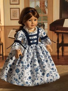 """""""Colonial Day Dress"""" for American Girl dolls by Sewbig"""