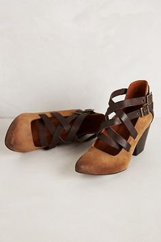Pacific Woven Heels #anthropologie
