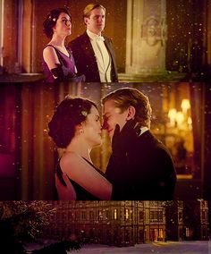 Matthew Crawley and Lady Mary. This proposal from Downton Abbey is by far the most romantic one I've ever seen.