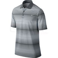 Nike Key Bold Heather Stripe Polo 585824 | Discount Golf World