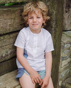 Short moderno lino verde bicolor | Corazón de león KIDS moda infantil