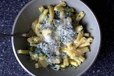 creamed chard and spring onion pasta