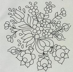 Folk Embroidery Patterns ARTEMELZA - Arte e Artesanato: Riscos para pintura bauernmalerei Mexican Embroidery, Hungarian Embroidery, Crewel Embroidery, Hand Embroidery Patterns, Embroidery Applique, Floral Embroidery, Beaded Embroidery, Embroidery Designs, Embroidery Saree
