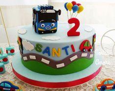 1st Birthday Foods, Boys 1st Birthday Party Ideas, Monkey Birthday Parties, 4th Birthday Cakes, Happy Birthday Balloons, 1st Boy Birthday, Bus Cake, Car Cakes, Bithday Cake