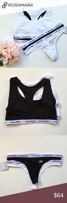 06244d499407f CK Brallete and Panty Set Pre made Bundle includes  Calvin Klein bralette sports  bra