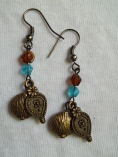 A Touch of Vintage Earrings by BackyardBeader on Etsy, $10.00