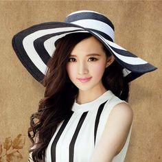 Hot nuevos sombreros 2014 de moda para mujer paja casquillo de la playa del  sombrero del ccefde68d15