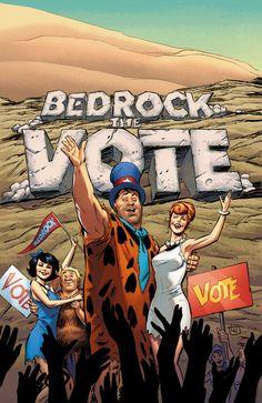 """THE_FLINTSTONES_5Es hora de """"Bedrock el voto!"""" Con la elección de alcalde Bedrock el calentamiento, la escuela secundaria local decide unirse a la diversión mediante la celebración de su propia elección para presidente de la clase.  Ralph será el Bully perforar su camino a la victoria?  ¿O hay un nuevo tipo de candidato esperando en las alas para comenzar una revolución?  Mientras tanto, Fred y Barney recuerdan sus días luchando por su ciudad como parte del ejército del búfalo de agua."""