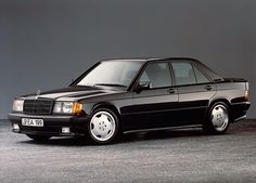In October 1990 25 years ago our cooperation with Daimler-Benz officially started. Take a look back with us on the first so-called complete vehicles that emerged from this alliance. Today: the 190 E AMG. Mercedes Benz 190e, Mercedes 190, Classic Mercedes, Mercedes Benz Classes, Daimler Benz, Cute Cars, Dream Cars, Classic Cars, Motorcycles