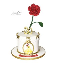 Beauty and the beast birthday cake. Call or email to order your celebration cake today. Beauty And The Beast Cake Birthdays, Beauty And The Beast Party, Disney Beauty And The Beast, Disney Themed Cakes, Cakes Today, Cupcake Wars, Cake Decorating Tips, Celebration Cakes, Disney Inspired
