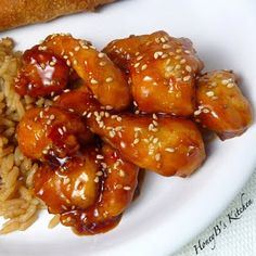 Honey Seasame chicken - I have been craving something like this ALL WEEK!