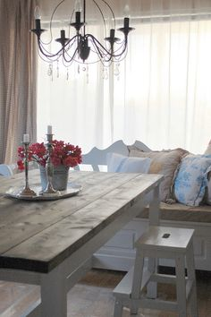 If Space Is Tight Around Your Dining Table A Bench Might