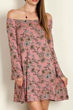 07c067ac5d503 Have it made in mauve this fall with this boho super soft and comfortable  dress made