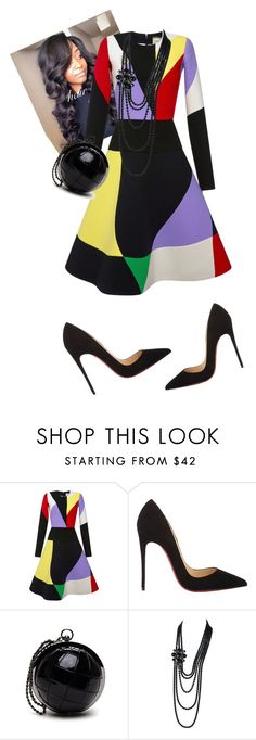 """Evening Manna! #iloveaim"" by cogic-fashion ❤ liked on Polyvore featuring FAUSTO PUGLISI, Christian Louboutin and Chanel"