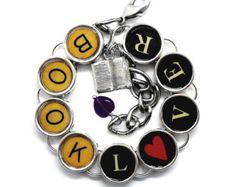 Book Lover Bracelet Readers Bookish Literary Themed Jewelry