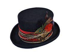 FUTURA HATS - Mad hatter hatCostume top hatSteampunk hat | Etsy Top Hat Costume, Circus Costume, Steampunk Hat, Steampunk Clothing, Festival Hats, Steampunk Wedding Dress, Alice In Wonderland Costume, Burning Man Outfits, Boho Hat