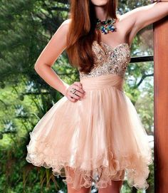 New Style Blush pink Homecoming Dress, Tulle Beading Prom Dress, Sweetheart Homecoming Dress, Mini Party Dress, Sexy Cocktail Dress