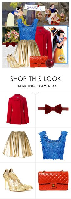 """""""Disney's Snow White and the Seven Dwarfs"""" by bklana ❤ liked on Polyvore featuring Dolce&Gabbana, Lanvin, 28.5, Monique Lhuillier, Oscar de la Renta, Chanel, modern, women's clothing, women and female"""