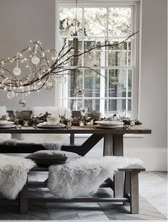 Scandinavian Christmas setting with lights and ornaments. So this year, savour every moment of the weeks that precede Christmas Day, and find a way to enjoy the magic every day.
