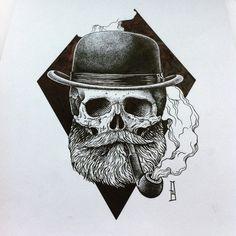 Design for @brad_fj  #skull #skullart #ink #newtattoo #newdesign #design #iblackwork #dotwork #art #drawing #blackworkers #tattoo #tattooart #strongholdtattoo #mb #marcinbrzezinski #blacktattoo #stronghold #custom #customtattoo #geometry #blackwork_publicity #onlyblackart #fashion #derbyhat #pipe #flashaddicted #tattooflash