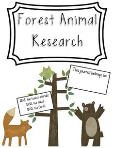 Forest Animal Research {freebie}!