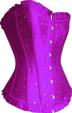 $38 Crystal Corset (purple) [02TCS560] - €29.00 : Gothikas, Gothic clothing