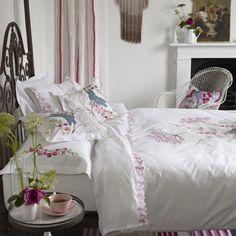 Designers Guild - Kimono Blossom Floral White Bedding | Designers Guild UK