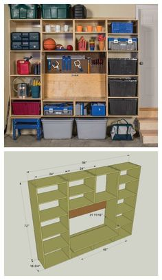 DIY Garage Storage and Work Center :: Find the FREE PLANS for this project and many others at buildsomething.com