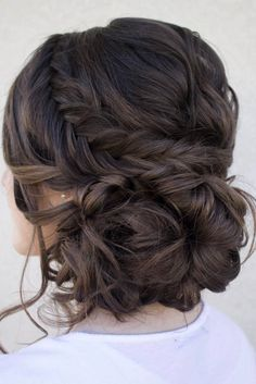 Loose serpentine braids make this updo standout. Hair & Makeup by Steph, Wedding Hairstyles, Hair Updos Loose serpentine braids make this updo standout. Hair & Makeup by Steph, Wedding Hairstyles, Hair Updos Fall Wedding Hairstyles, Fancy Hairstyles, Quince Hairstyles, Hairstyle Ideas, Latest Hairstyles, Hairstyle Wedding, Beautiful Hairstyles, Brunette Hairstyles, Hairstyles 2016
