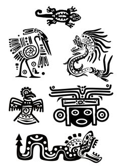 Illustration about Set - American Indian traditional patterns. Illustration of design, culture, eagle - 16985261 Native Art, Native American Art, American Indians, American History, Quetzalcoatl Tattoo, Aztec Symbols, Viking Symbols, Egyptian Symbols, Viking Runes