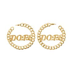DOPE GOLD HOOP EARRINGS at Shop Jeen | SHOP JEEN (26 CAD) ❤ liked on Polyvore