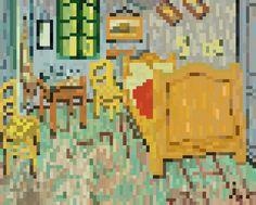 Pixel art 35 by jaebum joo, via Behance La Chambre de Van Gogh à Arles (Vincent Willem van Gogh)