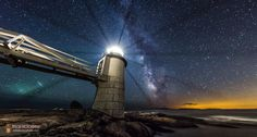 Milky Way at Marshall Point Lighthouse by Mike Taylor on 500px