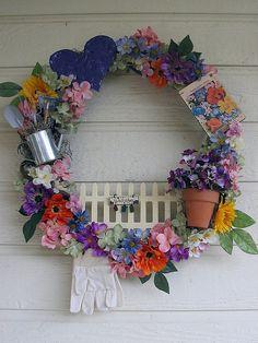 Gardening Wreath by Irisbylaurie3629  ~ so cute