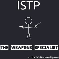 As the ISTP Weapons Specialist, you do the absolute best you can at whatever you love, mastering your chosen specialty with a rugged, hands-on pragmatism. | #ISTP - Cognitive Orientation Guidebook