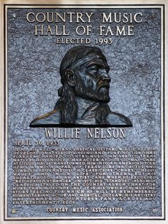 Willie Nelson elected into the  Country Music Hall of Fame, @ Callie Jo McKinney. Will take my picture with Willie for you!