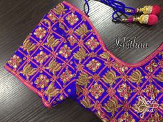 Blouse Patterns, Blouse Designs, Hand Embroidery, Embroidery Designs, Saree Jewellery, Telugu Brides, Maggam Works, South Indian Bride, Work Blouse