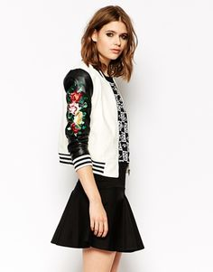 Endless Rose varsity jacket