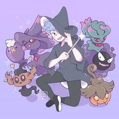 No photo description available. Ghost Type Pokemon, Pokemon Oc, Pokemon Funny, Pokemon Fan Art, Pokemon Halloween, Comic Anime, Anime Art, Fanart, Things To Draw
