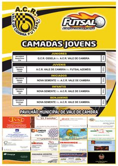 Futsal: camadas jovens ACR > 4 e 5 Dezembro 2015