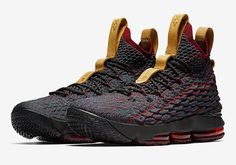 """83bf055a756 The Nike LeBron 15 colorway that King James himself rocked on Cavs media  day finally has a release date. The Nike LeBron 15 """"New Heigh."""