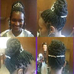 Senegalese Twists Prom updo